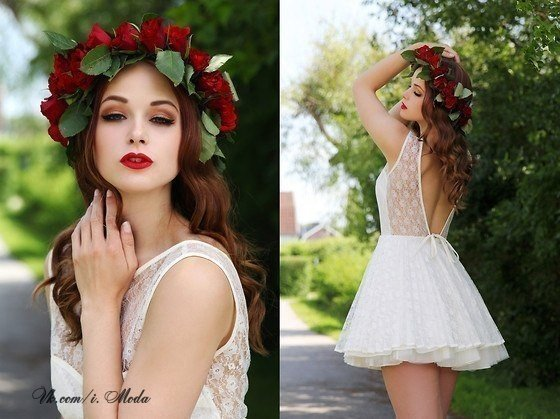 Образ платья и прически