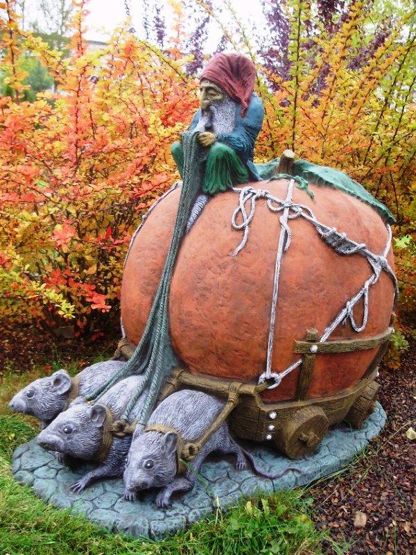 Скульптуры для сада своими руками с фото