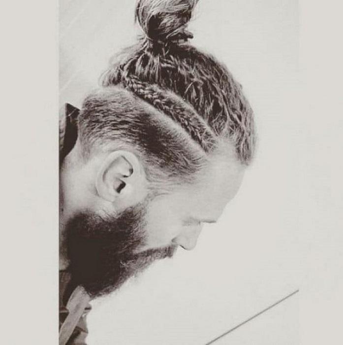 Мужские прически с косами
