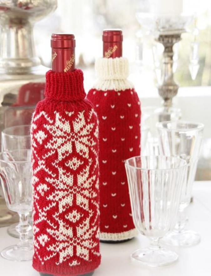Уютный свитер для бутылок