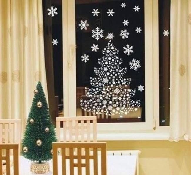 Зимние рисунки на окне
