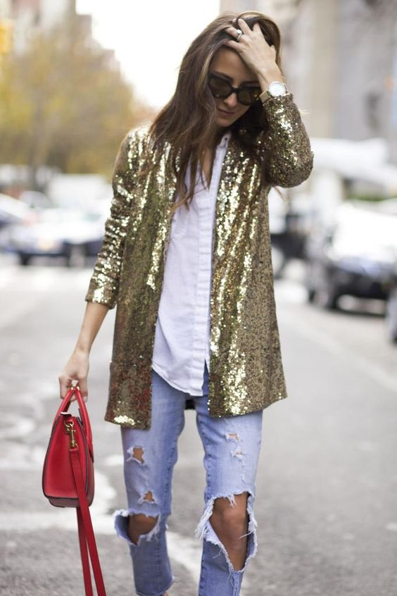 Блестящий пиджак