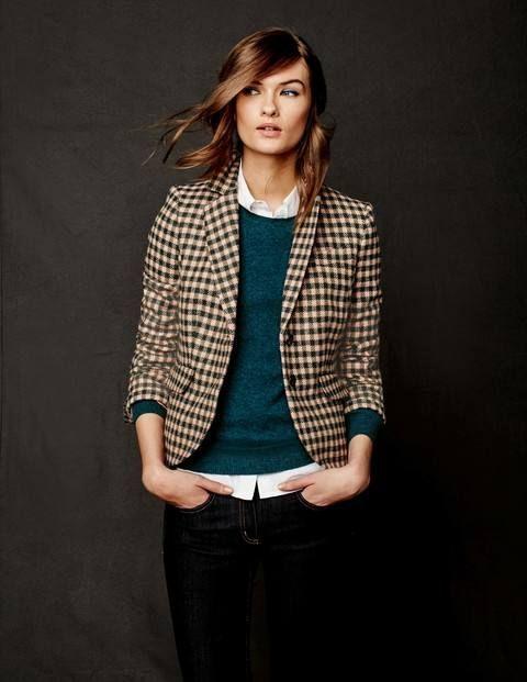 Пиджак на цветной джемпер с рубашкой