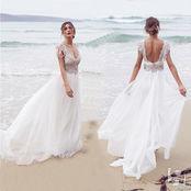 Платье на свадьбы на пляже