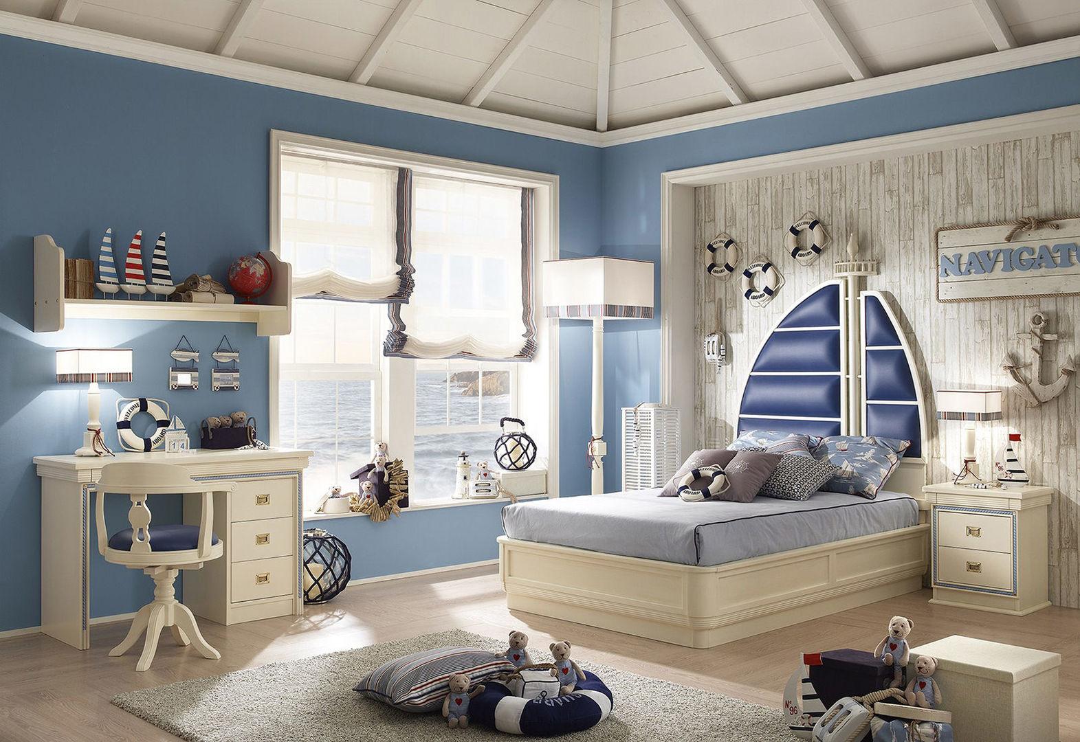 Бледно-голубые стены создают ощущение приятной прохлады