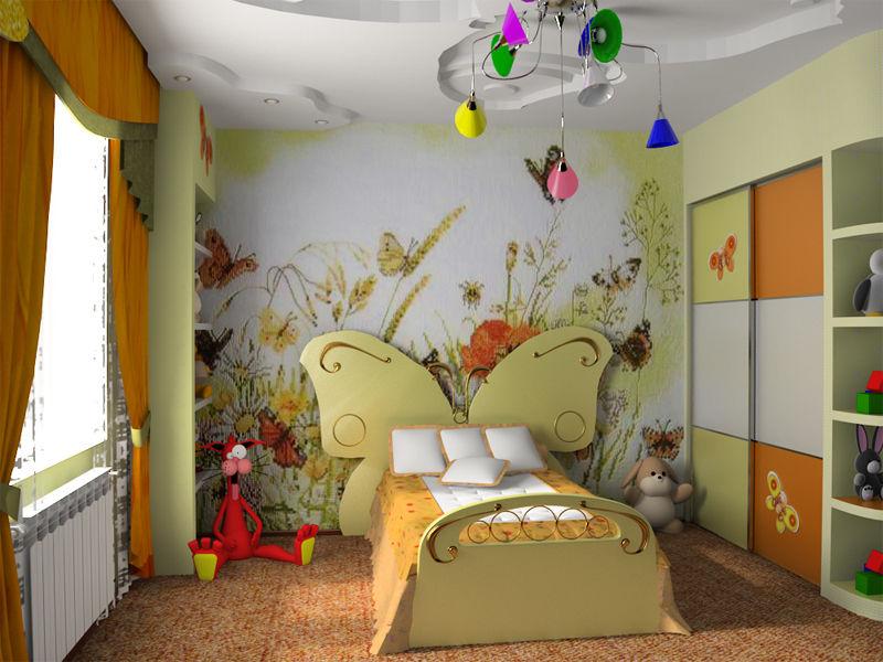 Оригинальная кровать-бабочка