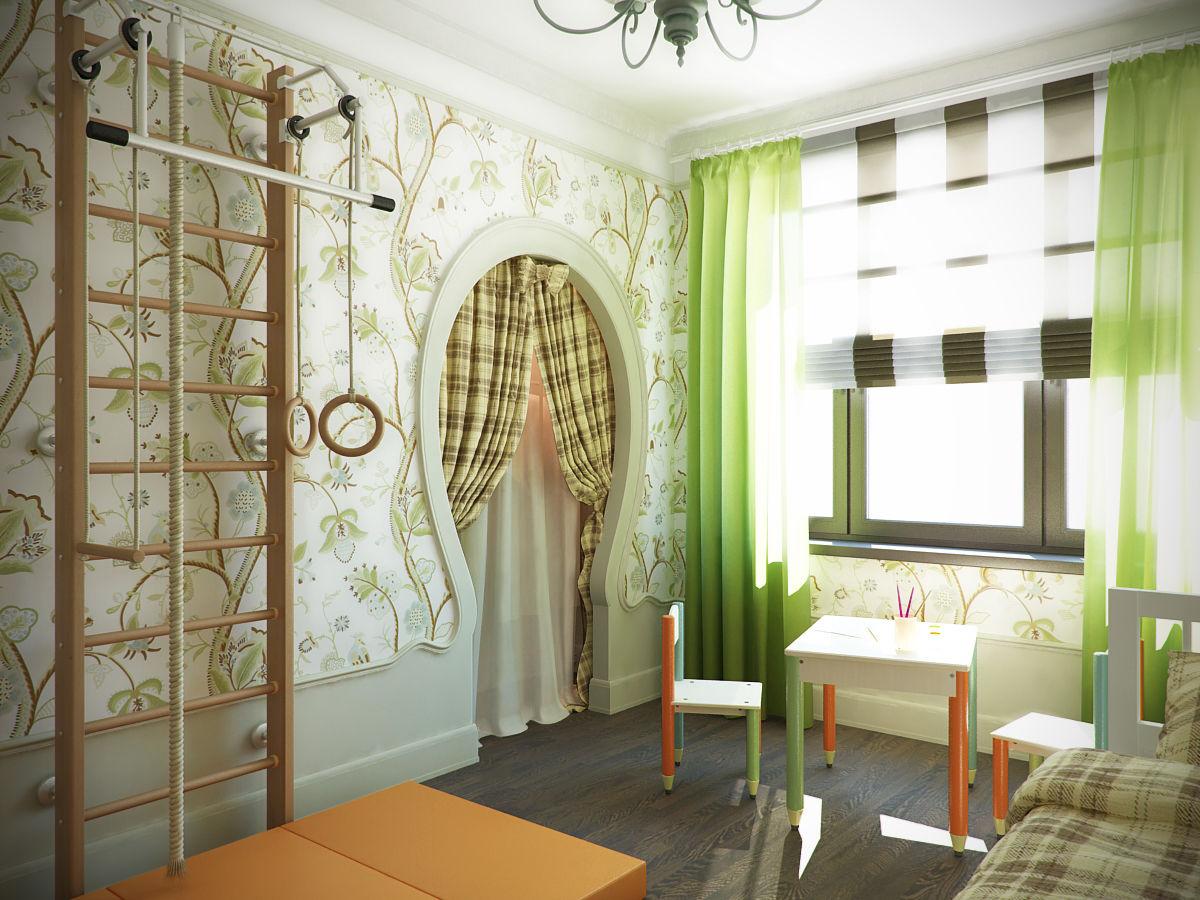 Стенка в комнате поможет развивать выносливость и подвижность