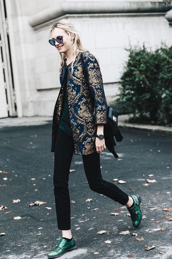 Удлиненный пиджак с вышивкой