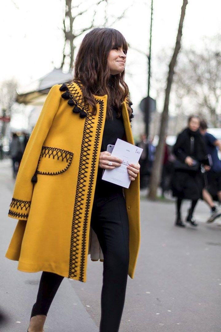 Пальто с окантовкой