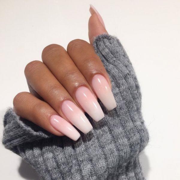 Ногти «балерина» напоминают пуанты.