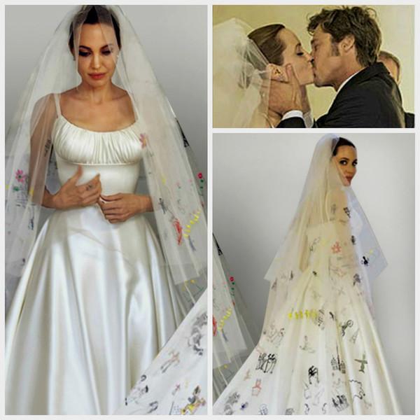 Свадебные платье анджелины джоли фото