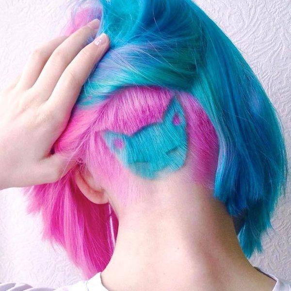 рисунок на волосах машинкой у девушек