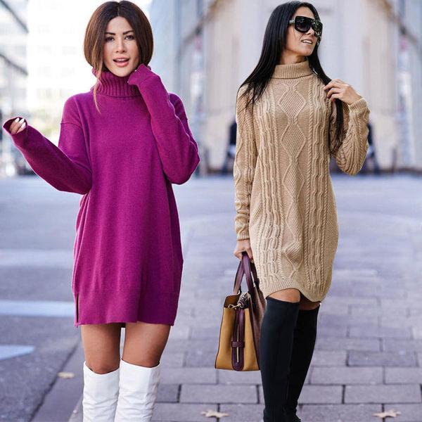 bf98fd6fdeb Восемь способов носить платье-свитер