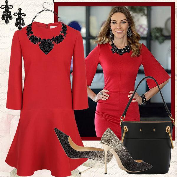 b55e9dbb9a7 Наглядный пример  как подобрать аксессуары к красному платью  - Я ...
