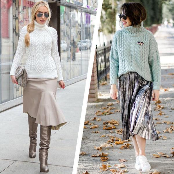 adb0b9c0930 Как носить юбку со свитером - Я Покупаю