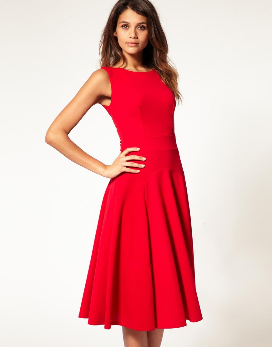 Фасон красного платья