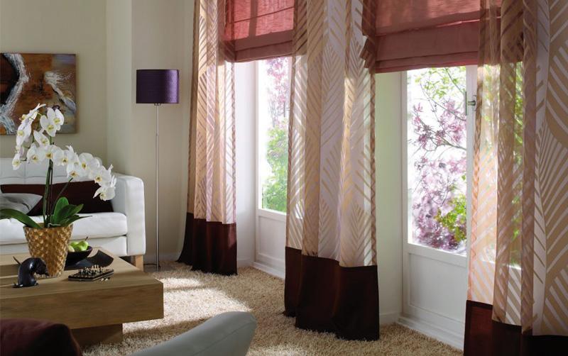 Создайте свой оригинальный интерьер с эксклюзивными шторами .