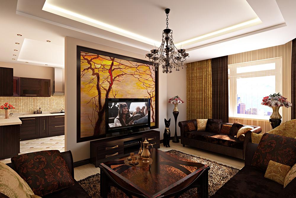 Оформление гостиной дизайн