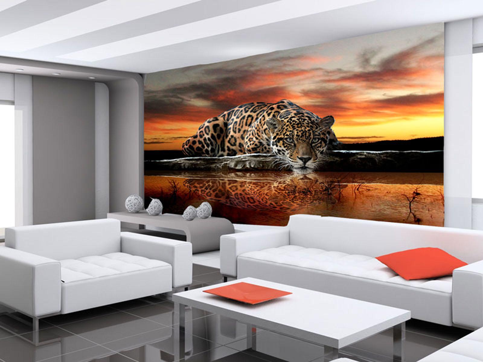 Картинки гостиной с фотообоями