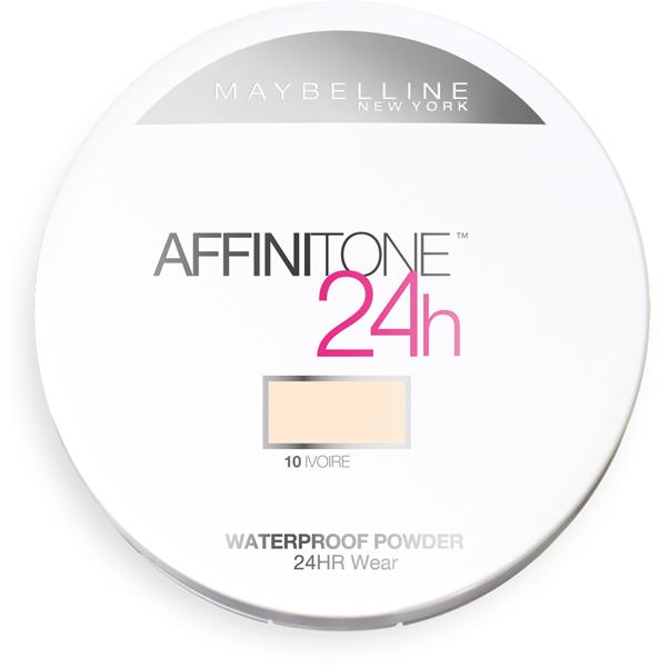 Водостойкая пудра Maybelline Affinitone в течение 24 часов противостоит жаре, влажности и жирному блеску, 470 руб.