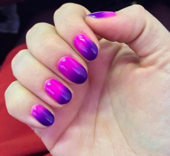 Интересно смотреть, как фиолетовый сменяется на фуксию.