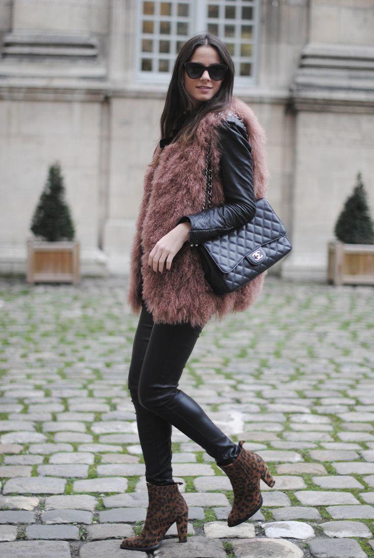 меховая жилетка с чем носить зимой фото законченного облика