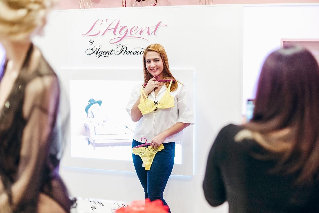 Зульфия Бакаева в салоне нижнего белья L'agent by Agent Provocateur