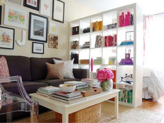 Практичный вариант зонирования однокомнатной квартиры