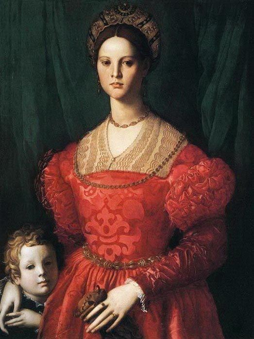 Портрет молодой женщины с сыном Bronzino 1540 г.