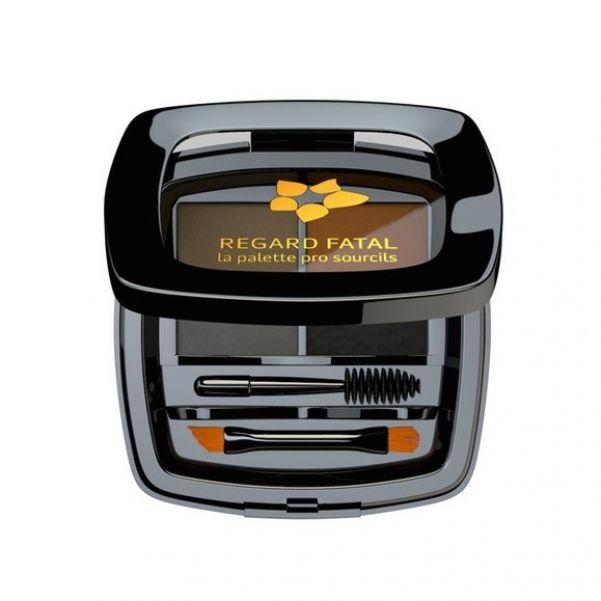 Набор для бровей Л'Этуаль Regard Fatal (воск, три оттенка теней и инструменты для макияжа), от 664 рублей.