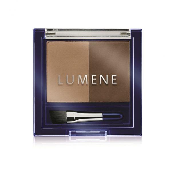Двойные тени для бровей Lumene Blueberry Longwear Eyebrow Powder, от 479 рублей.
